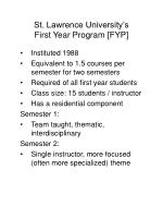 st lawrence university s first year program fyp