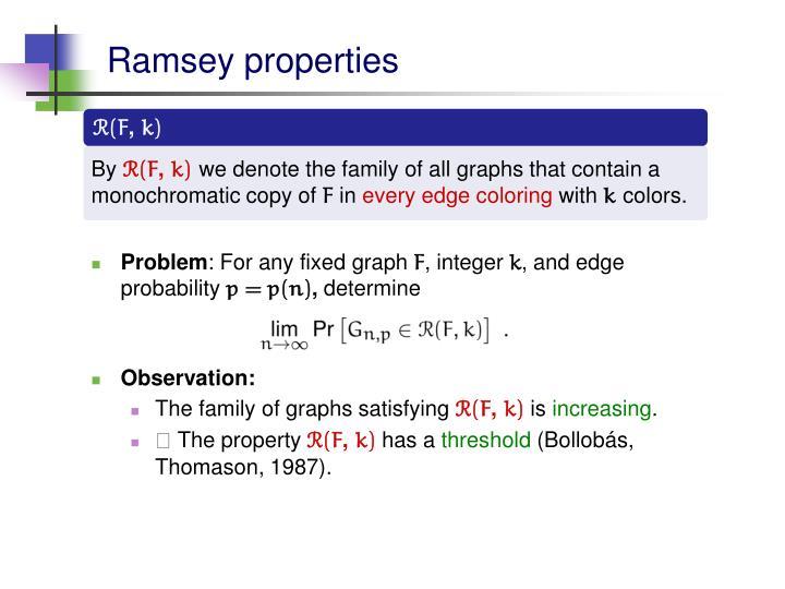Ramsey properties