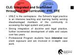 cle integrated and scaffolded throughout the curriculum 4ye 5ye