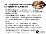 cle integrated and scaffolded throughout the curriculum