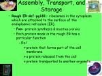 assembly transport and storage1