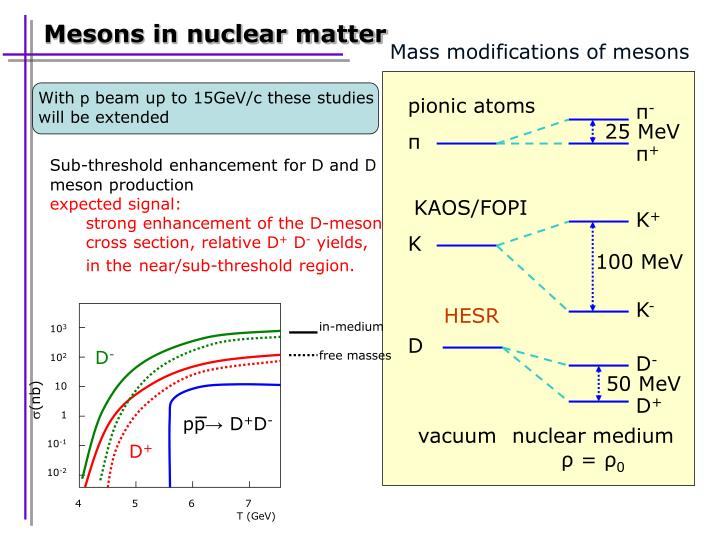 Mass modifications of mesons