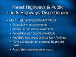 forest highways public lands highways discretionary1