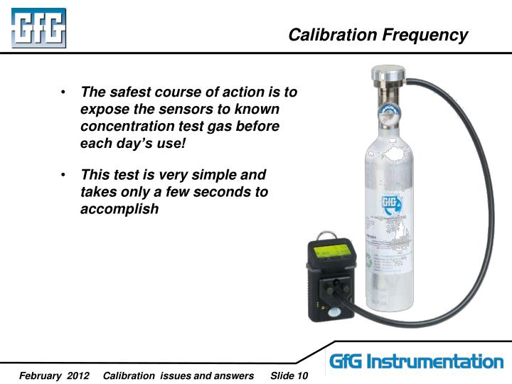 Calibration Frequency