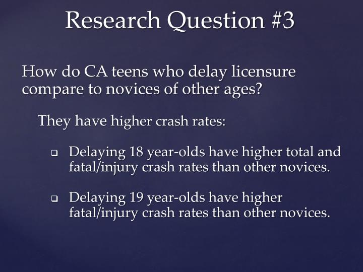How do CA teens who delay licensure compare to novices of other ages?