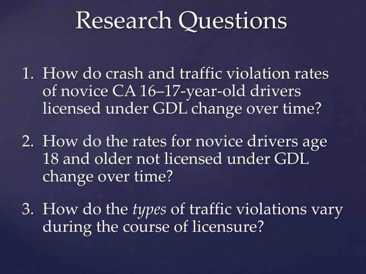 How do crash and traffic violation rates of novice CA 16–17-year-old drivers licensed under GDL change over time?