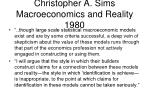 christopher a sims macroeconomics and reality 1980