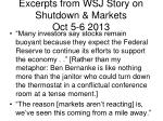 excerpts from wsj story on shutdown markets oct 5 6 2013