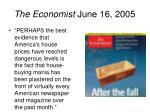 the economist june 16 2005