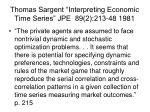 thomas sargent interpreting economic time series jpe 89 2 213 48 1981