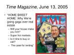 time magazine june 13 2005