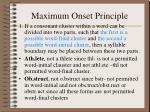 maximum onset principle