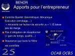 apports pour l entrepreneur