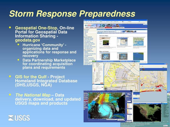 Storm response preparedness