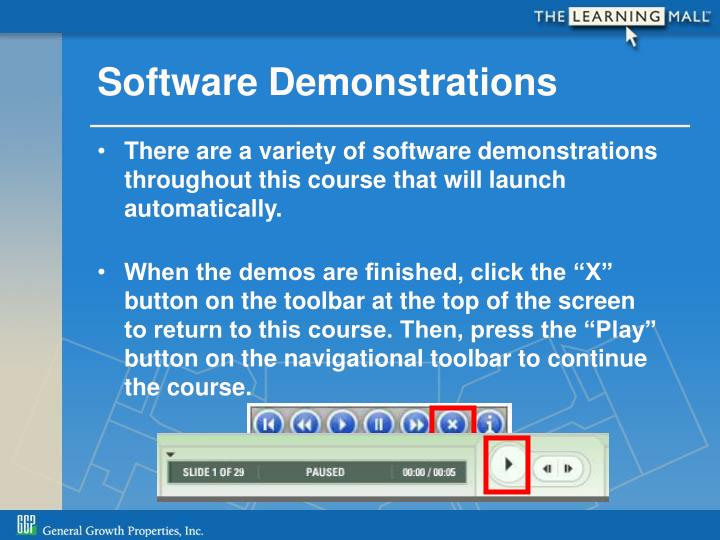 Software Demonstrations