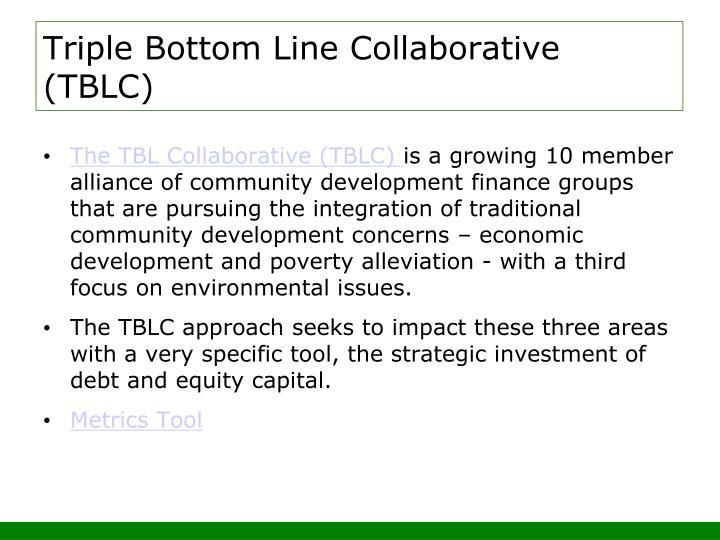 Triple Bottom Line Collaborative (TBLC)