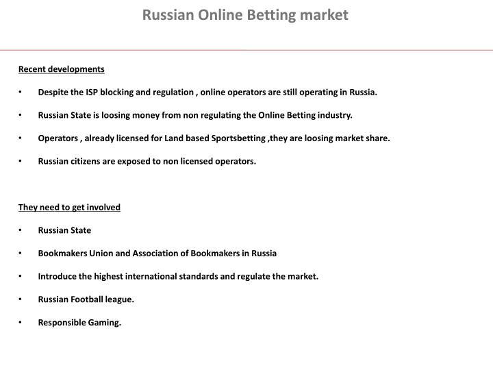 Russian Online Betting market