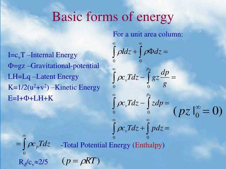 Basic forms of energy