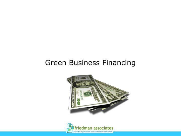 Green Business Financing