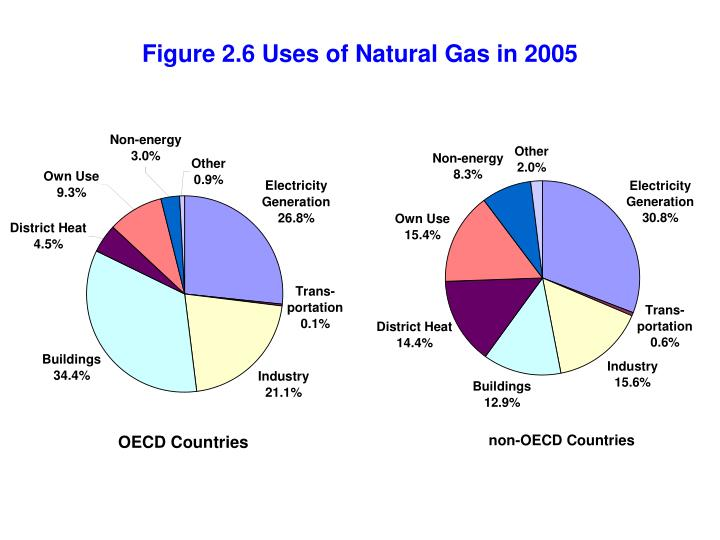 Figure 2.6 Uses of Natural Gas in 2005