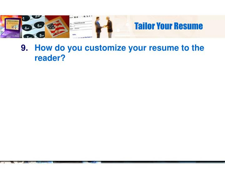Tailor Your Resume