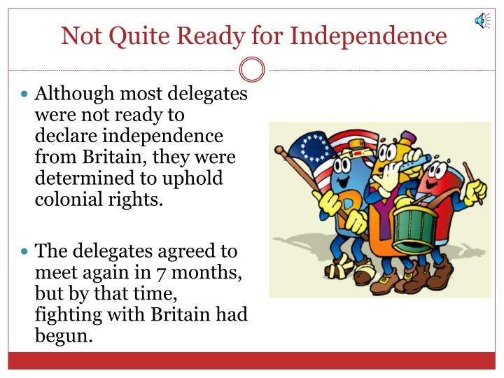 Not Quite Ready for Independence