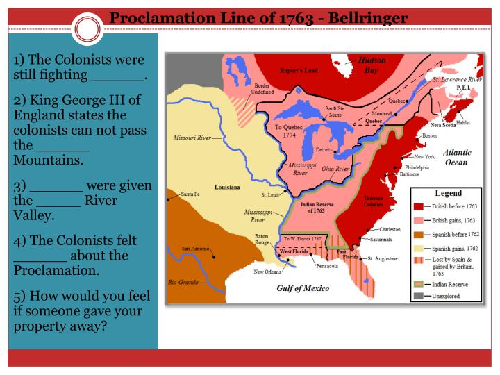 Proclamation line of 1763 bellringer