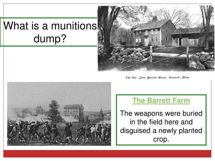What is a munitions   dump?