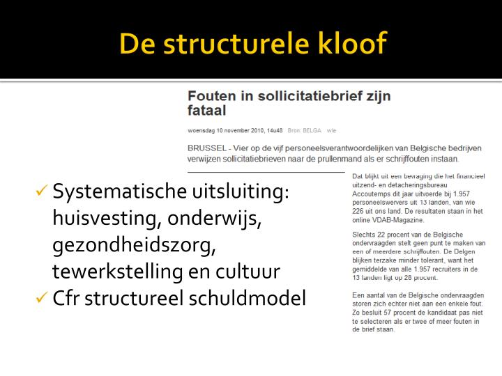 De structurele kloof