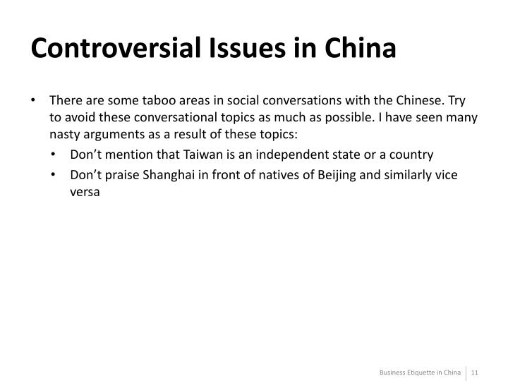 Controversial Issues in China