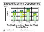 effect of memory dependence