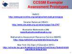 ccssm exemplar assessment prototypes