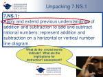 unpacking 7 ns 13