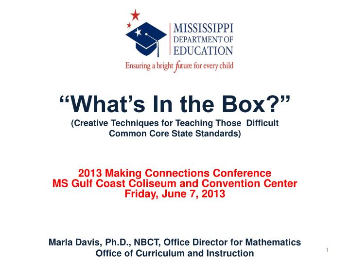 what s in the box creative techniques for teaching those difficult common core state standards n.
