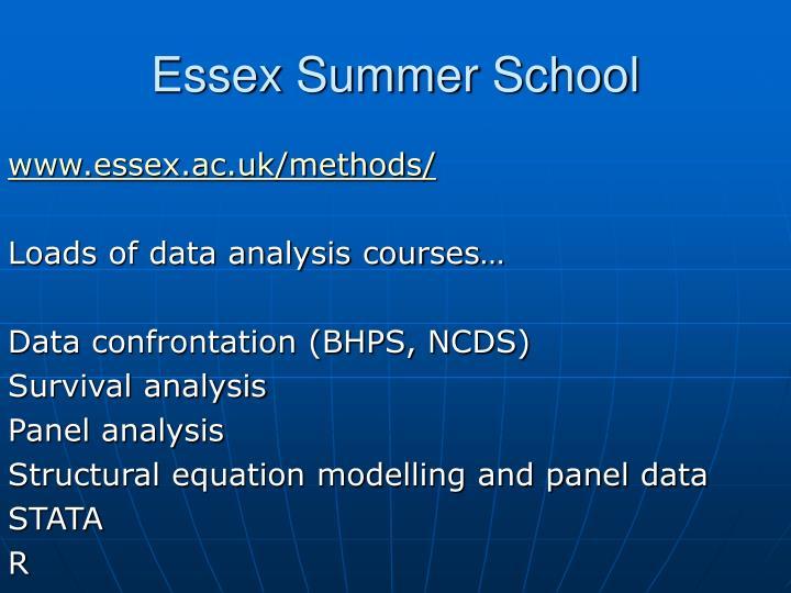 Essex Summer School