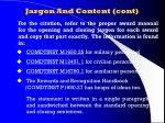 jargon and content cont