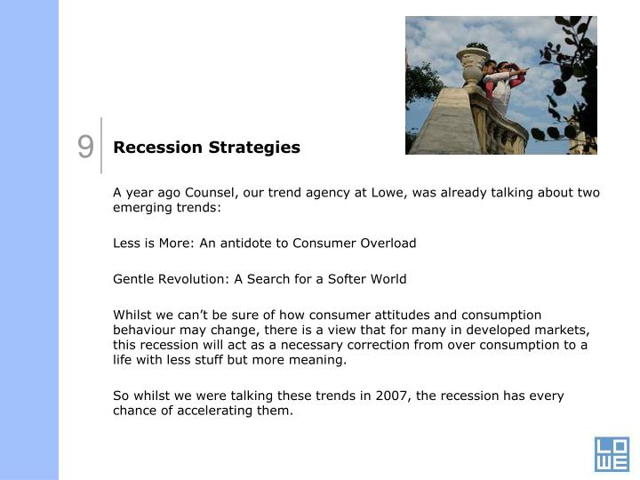 Recession Strategies