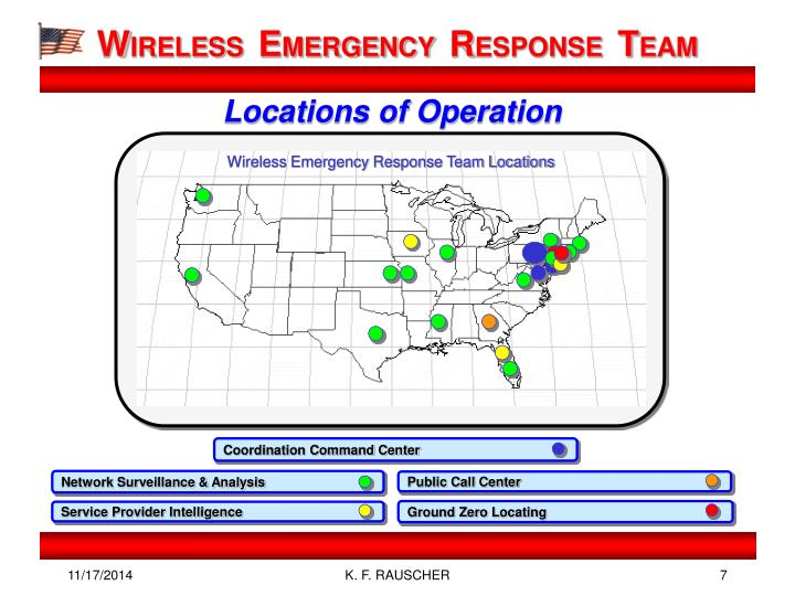 Wireless Emergency Response Team Locations