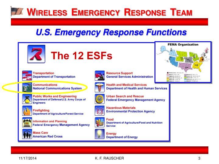 U s emergency response functions
