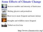 some effects of climate change