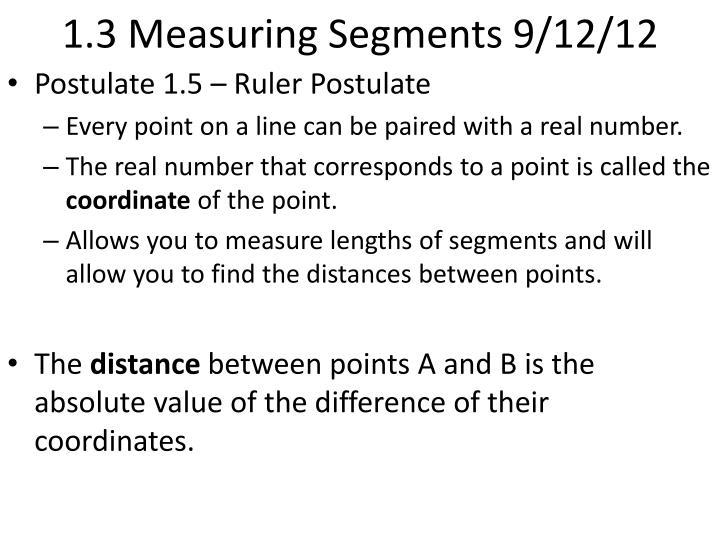 1 3 measuring segments 9 12 12