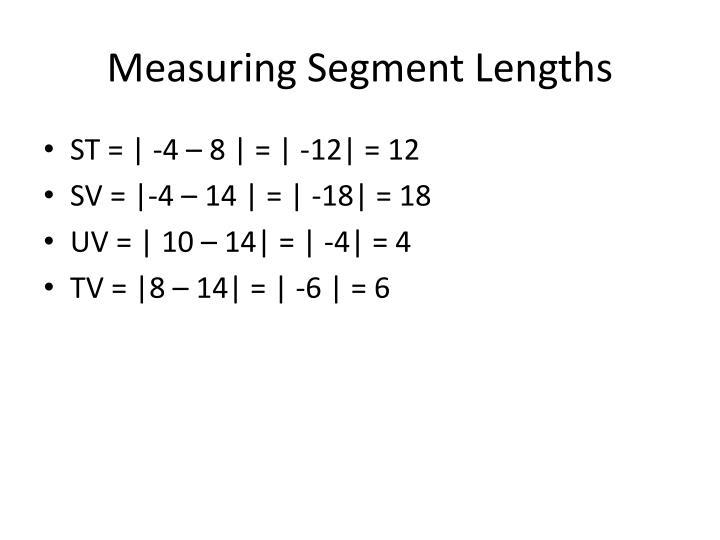 Measuring Segment Lengths
