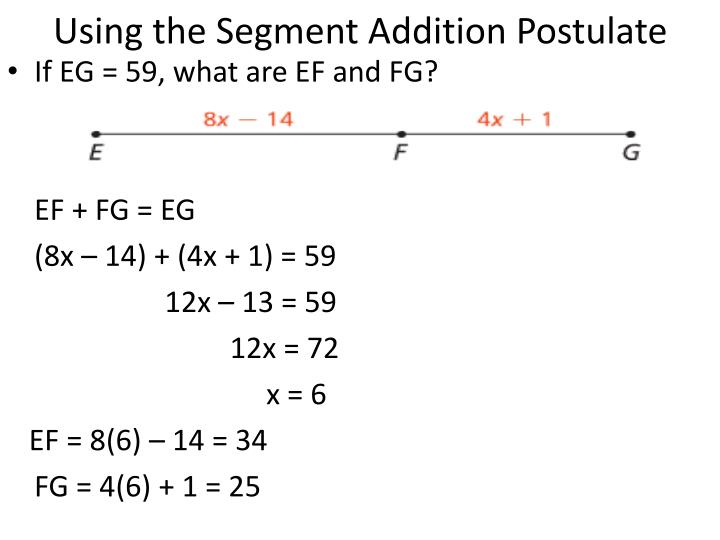 Using the Segment Addition Postulate