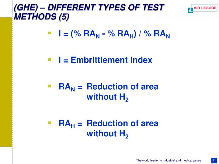 (GHE) – DIFFERENT TYPES OF TEST METHODS (5)