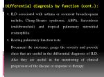 differential diagnosis by function cont