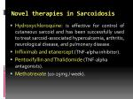novel therapies in sarcoidosis