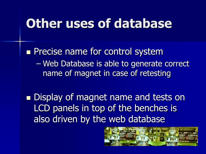 Other uses of database