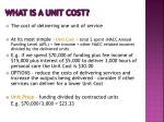 what is a unit cost