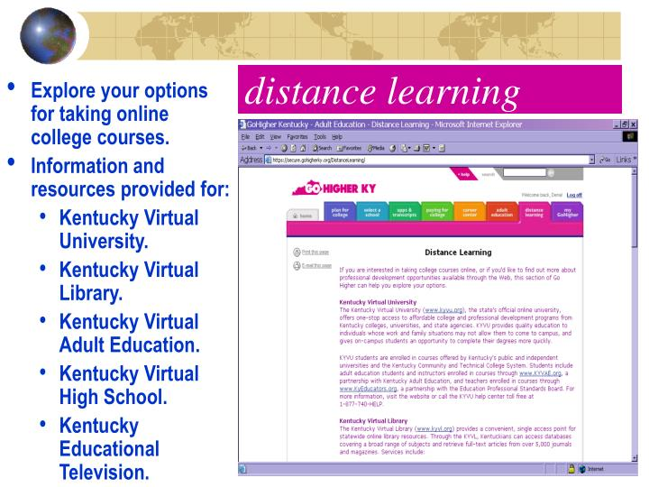 Explore your options for taking online college courses.