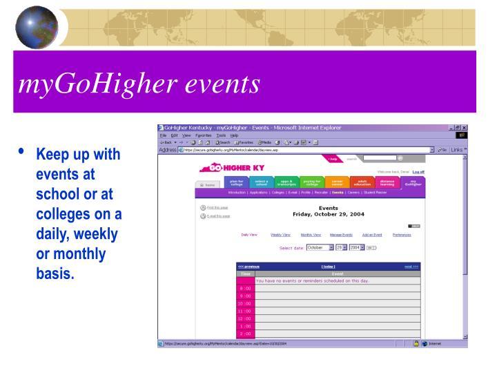 myGoHigher events